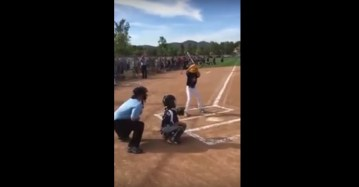 Marine Dresses As An Umpire To Surprise His Little Guy At A Baseball Game