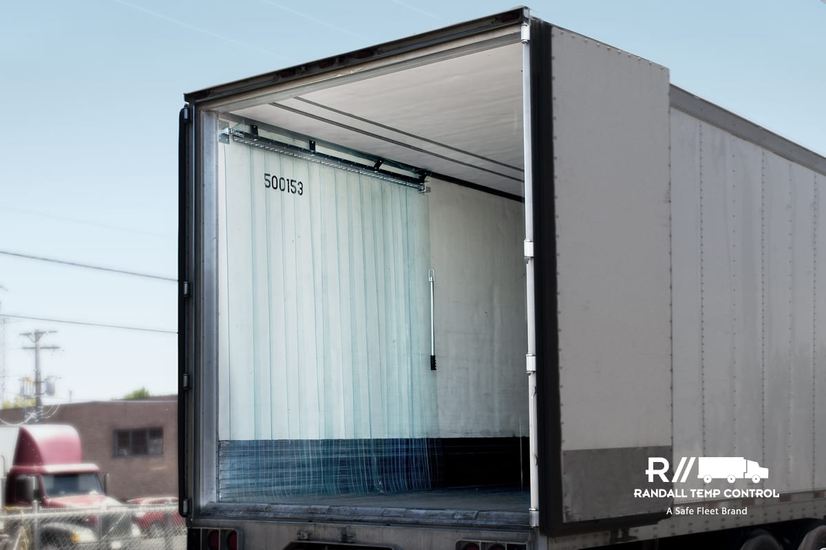 Trailer Curtains Randall Temp Control Rear Strip Door Curtain Safe Fleet Truck