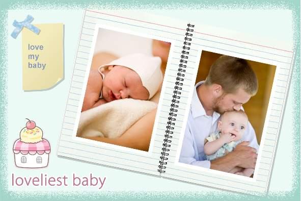 Free photo templates - Lovely Baby Album - free album templates