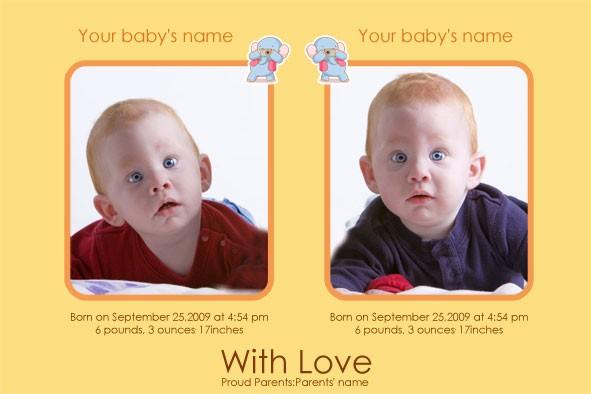 baby birth announcements template - Baskanidai