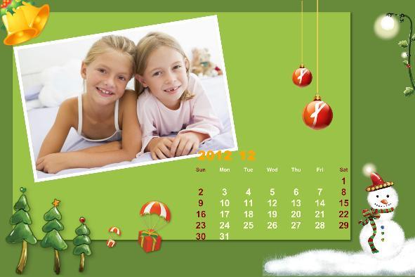 Free photo templates - Baby Calendar-2