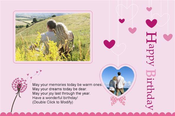 Free photo templates - Happy Birthday Cards (4) (Love) - happy birthday cards templates
