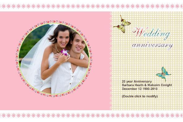 Free photo templates - Wedding Anniversary Cards