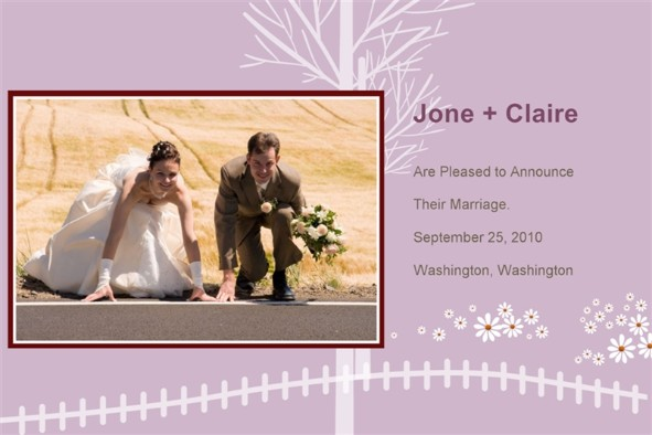Free photo templates - Wedding Announcement - wedding announcement template