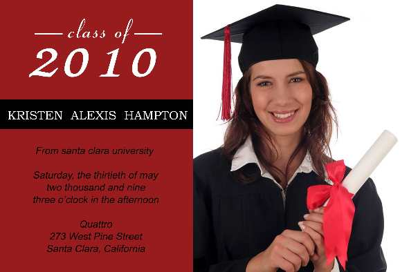 Free photo templates - Graduation Announcement