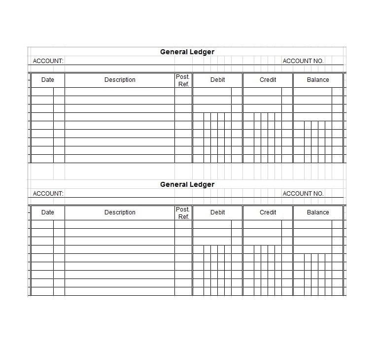 37 Checkbook Register Templates 100 Free, Printable - ledger template free