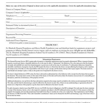 40 Donation Receipt Templates \ Letters Goodwill, Non Profit - donation receipt letter