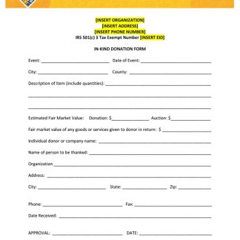 40 Donation Receipt Templates  Letters Goodwill, Non Profit
