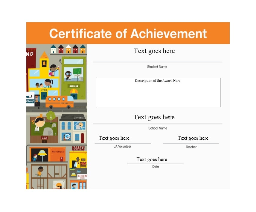 40 Great Certificate of Achievement Templates (FREE) - Template Archive