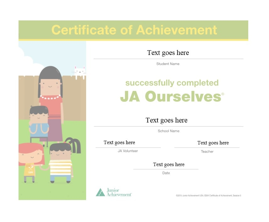 40 Great Certificate of Achievement Templates (FREE) - Template Archive - blank achievement certificates