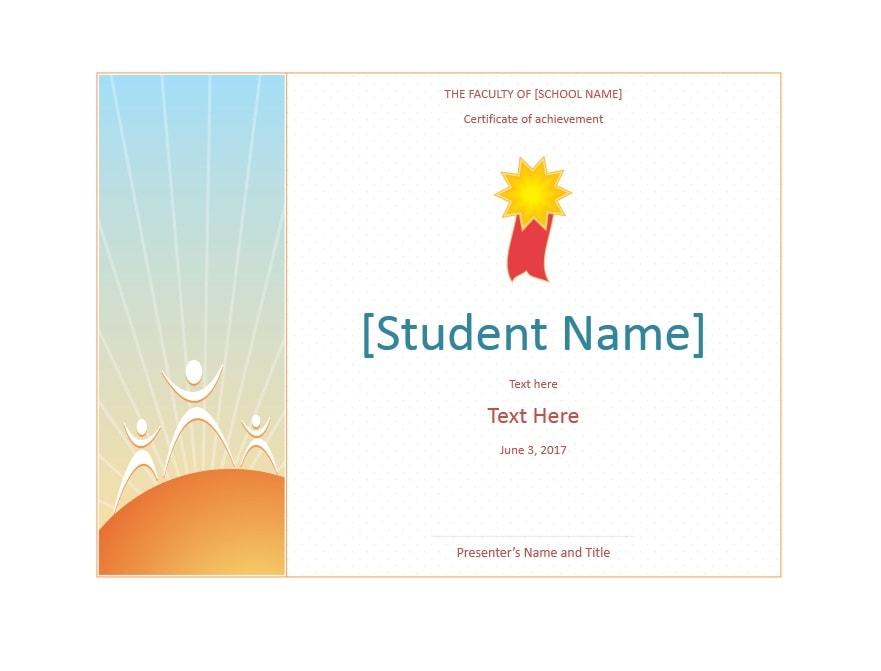 student certificates of achievement - Minimfagency