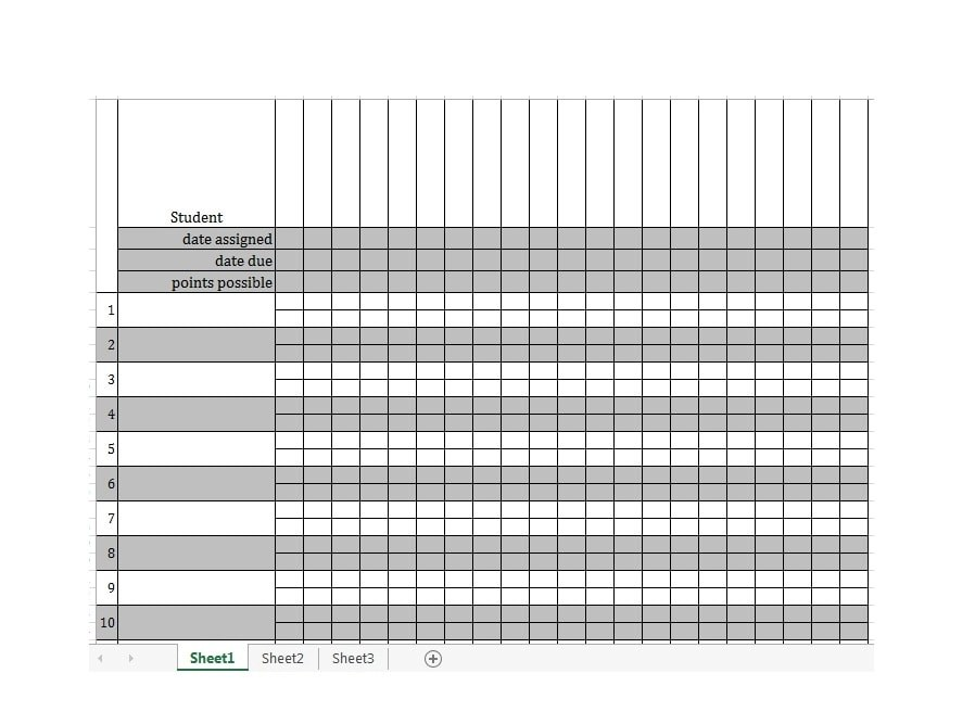 30 Free Gradebook Templates - Template Archive - grade book template