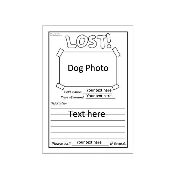 Great Found Dog Poster Template  Found Poster Template