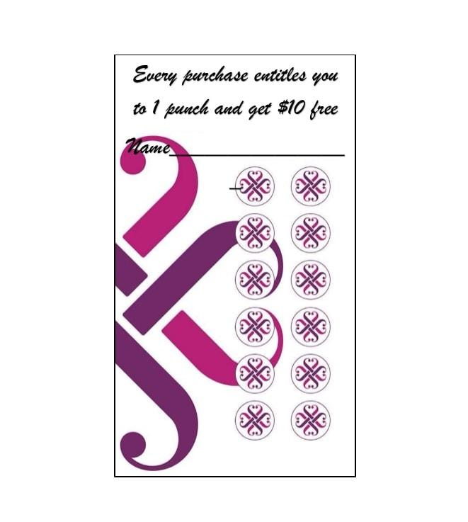 30 Printable Punch / Reward Card Templates 101 Free