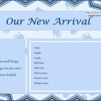 46 Birth Announcement Templates, Cards, Ideas  Wording