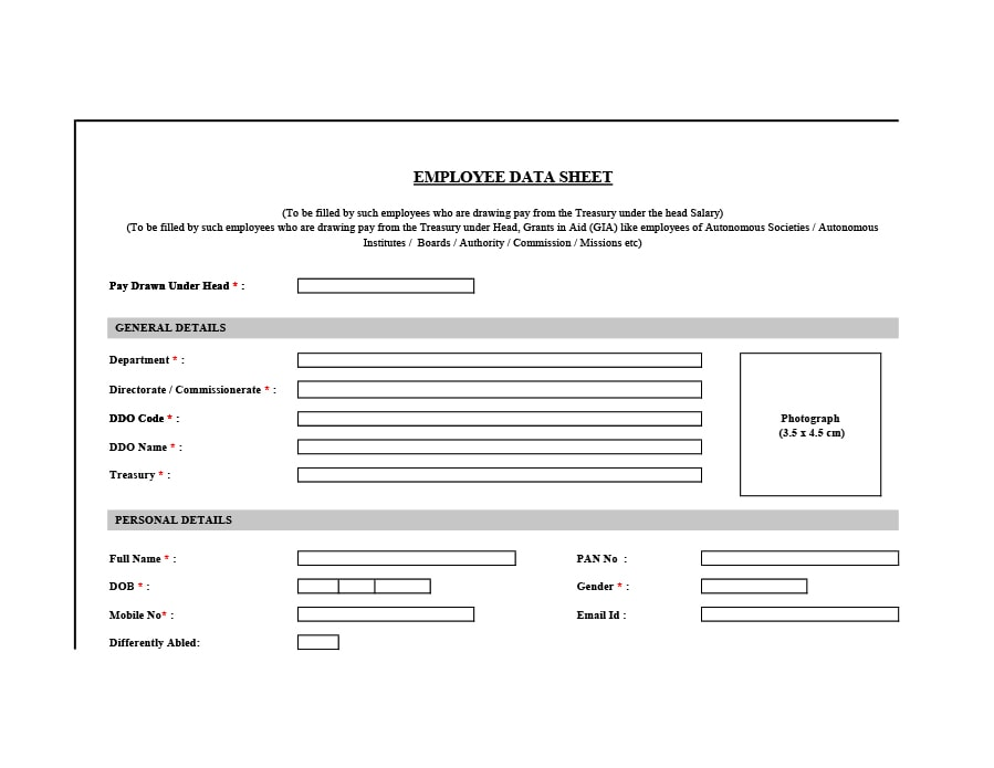 Employee Information Form Employee Hire Form Employee Hire Form