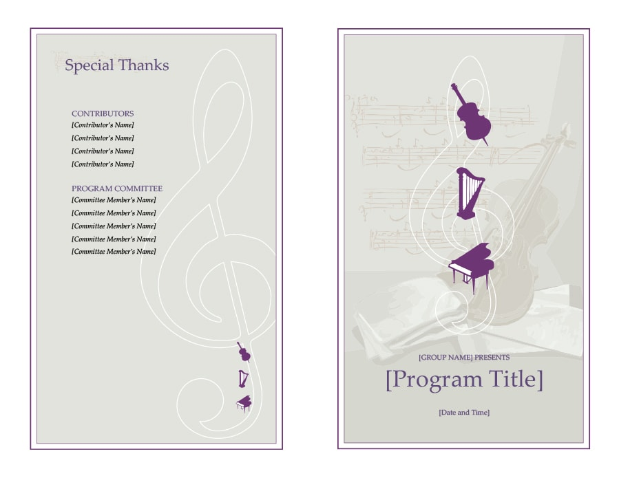 40+ Free Event Program Templates / Designs - Template Archive