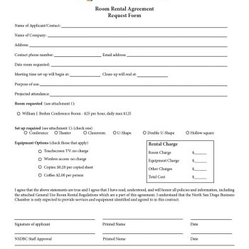 39 Simple Room Rental Agreement Templates - Template Archive - Room Rental Agreement Form