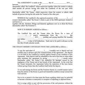 39 Simple Room Rental Agreement Templates - Template Archive - rental agreement template