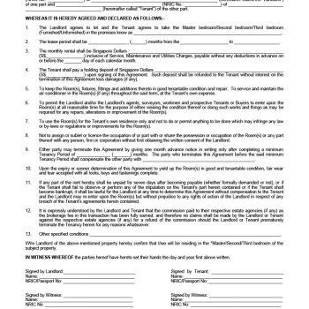 39 Simple Room Rental Agreement Templates - Template Archive - room rental agreements