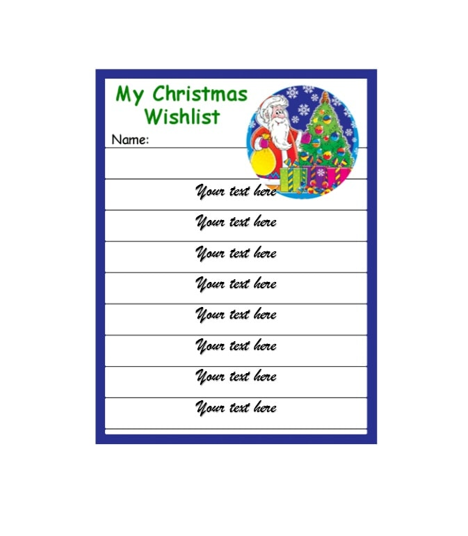 43 Printable Christmas Wish List Templates  Ideas - Template Archive - christmas wishlist template