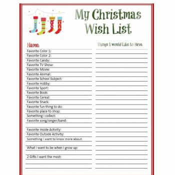 43 Printable Christmas Wish List Templates  Ideas - Template Archive