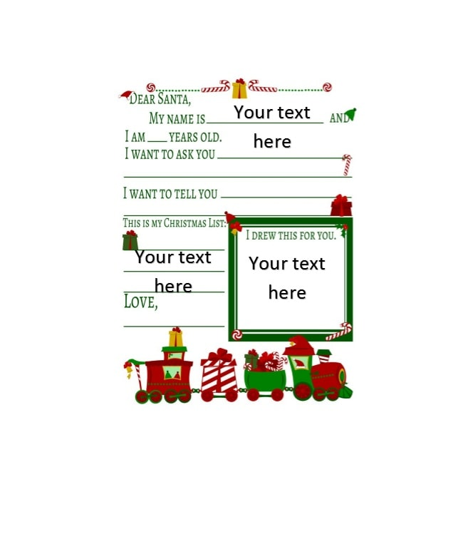10+ Christmas Wish List Templates Free Printable Word  PDF