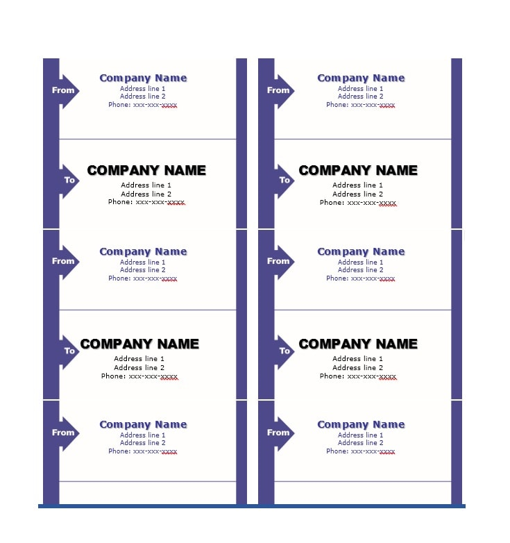 36 Fantastic Label Templates Address, Shipping, Mailing - ingredient label template