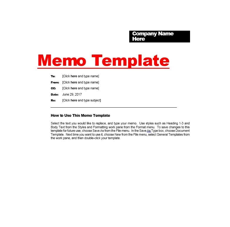 Business Memo Templates - 40 Memo Format Samples in Word - company memo template