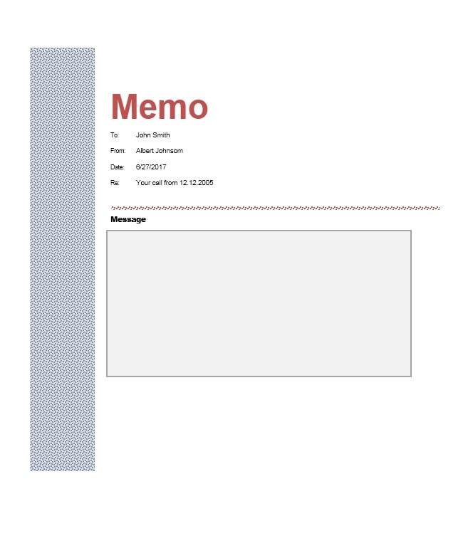 Business Memo Templates - 40 Memo Format Samples in Word