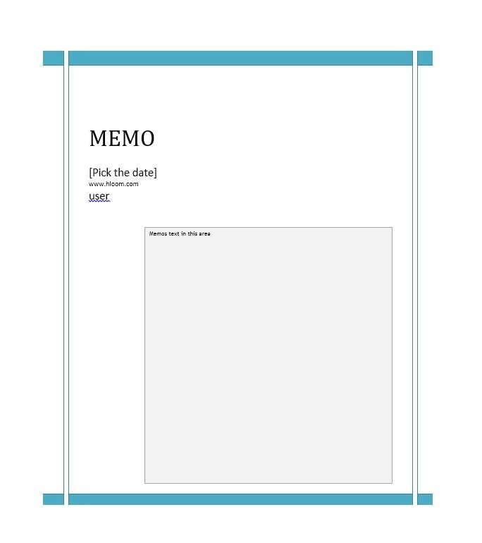 Business Memo Templates - 40 Memo Format Samples in Word - Professional Memo Template