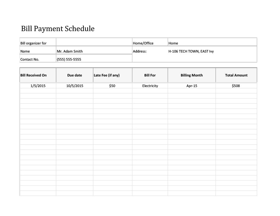33 Great Payment Plan / Schedule Templates - Template Archive