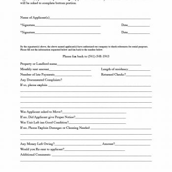 29 Rental Verification Forms (for Landlord or Tenant) - Template Archive - rental verification form
