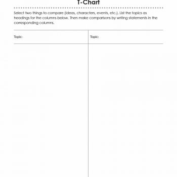 30 Printable T-Chart Templates  Examples - Template Archive - t chart template