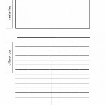 30 Printable T-Chart Templates  Examples - Template Archive