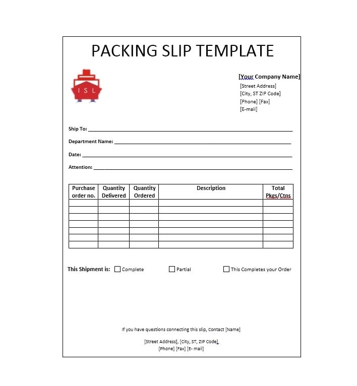 30+ Free Packing Slip Templates (Word, Excel) - Template Archive