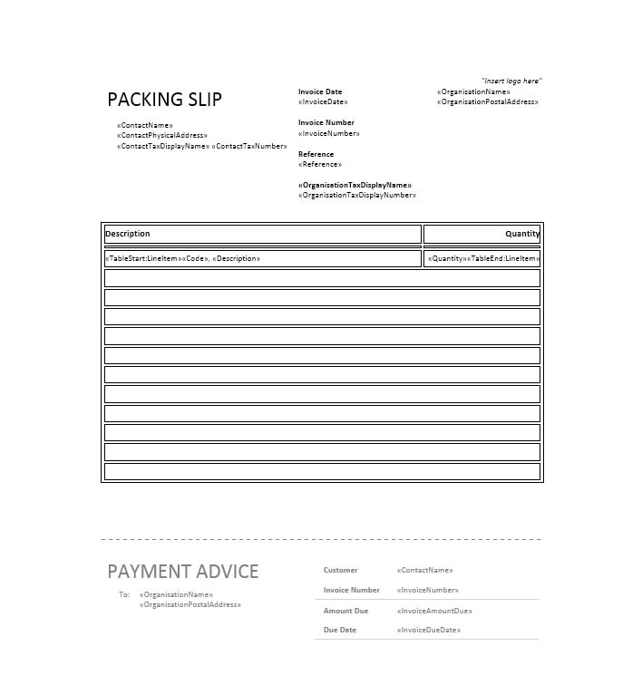 30+ Free Packing Slip Templates (Word, Excel) - Template Archive - Packing Template
