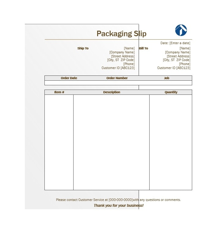 30+ Free Packing Slip Templates (Word, Excel) - Template Archive - shipping slip template