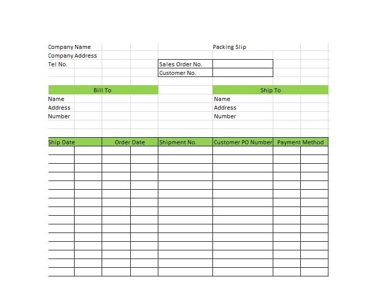 30+ Free Packing Slip Templates (Word, Excel) - Template Archive - packing slip