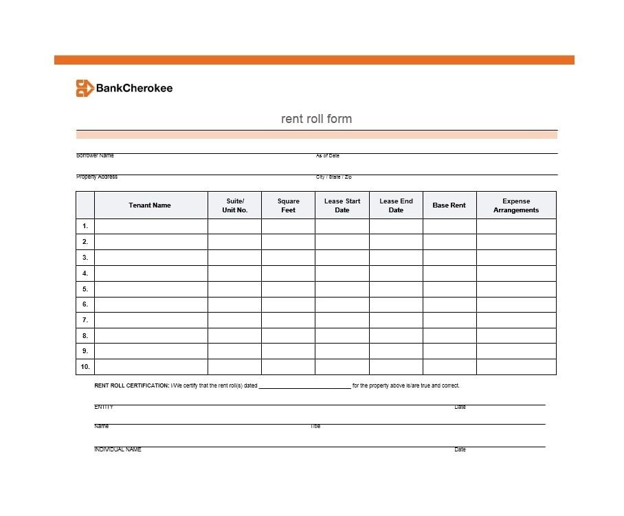 47 Rent Roll Templates  Forms - Template Archive - lease termination form