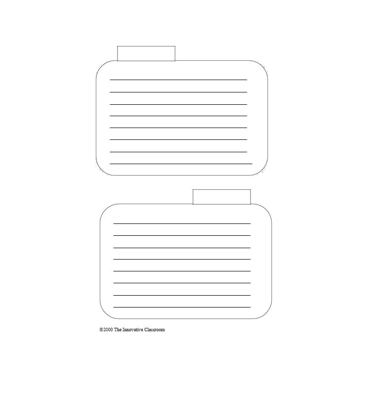 30 Simple Index / Flash Card Templates Free - Template Archive