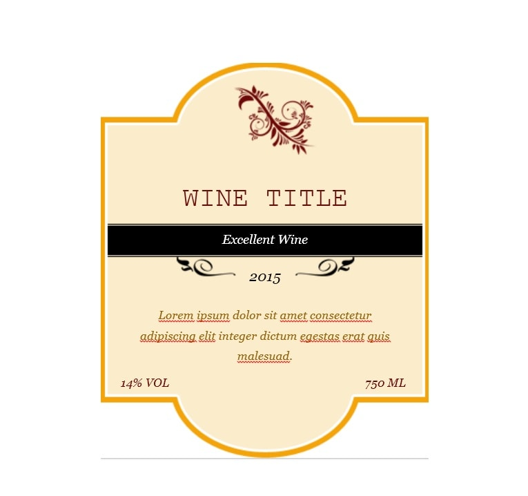 40 FREE Wine Label Templates (Editable) - Template Archive