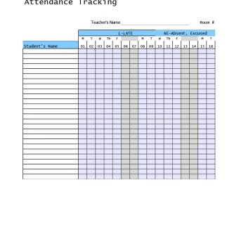 40+ FREE Attendance Tracker Templates Employee, Student, Meeting - attendance tracking system in excel
