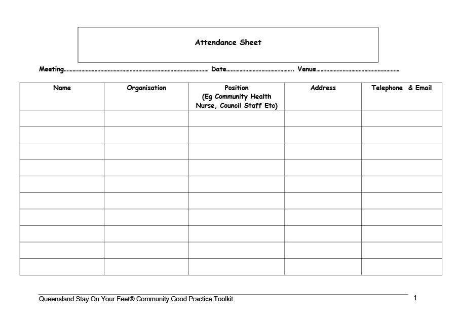 40+ FREE Attendance Tracker Templates Employee, Student, Meeting