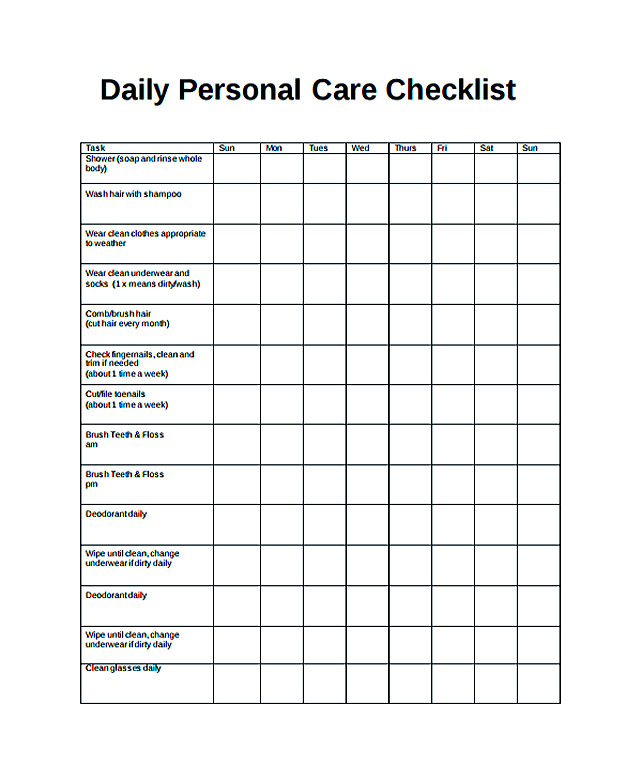 Free Daily Checklist Template and Its Purposes