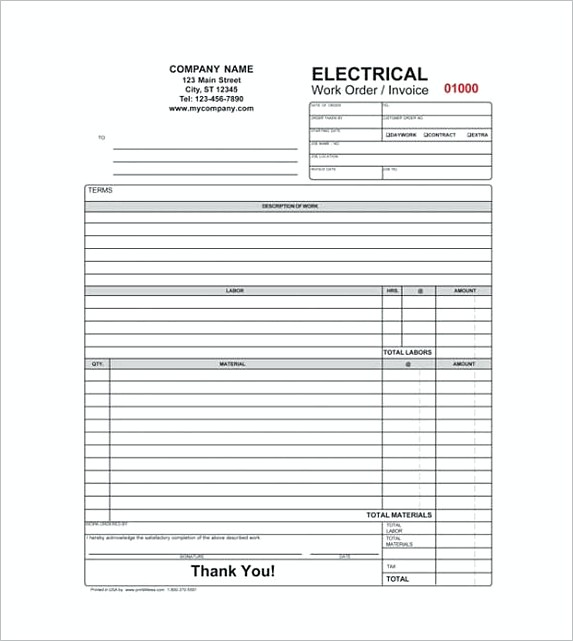 Invoice contractor cvlook05billybullockus – Electrical Invoice Template
