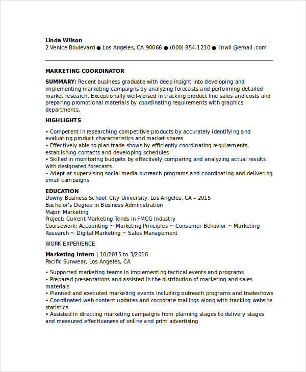 Sales Coordinator Resume international sales coordinator resume - outreach coordinator resume
