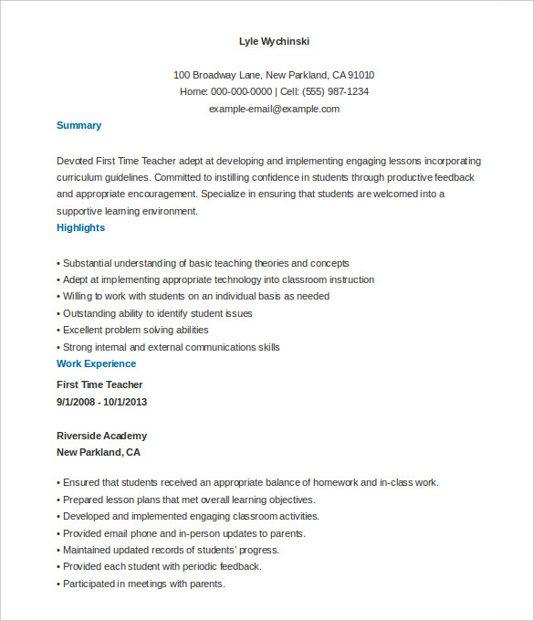 sample resume in pdf format