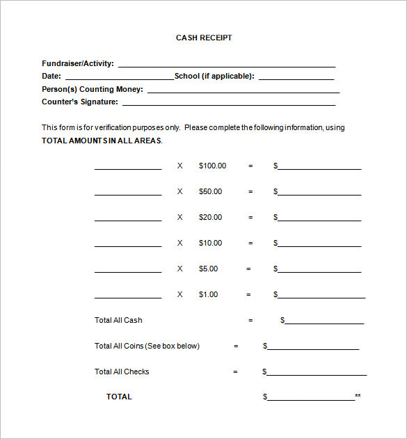Receipt Template Doc for Word Documents in Different Types You Can Use - cash invoice template