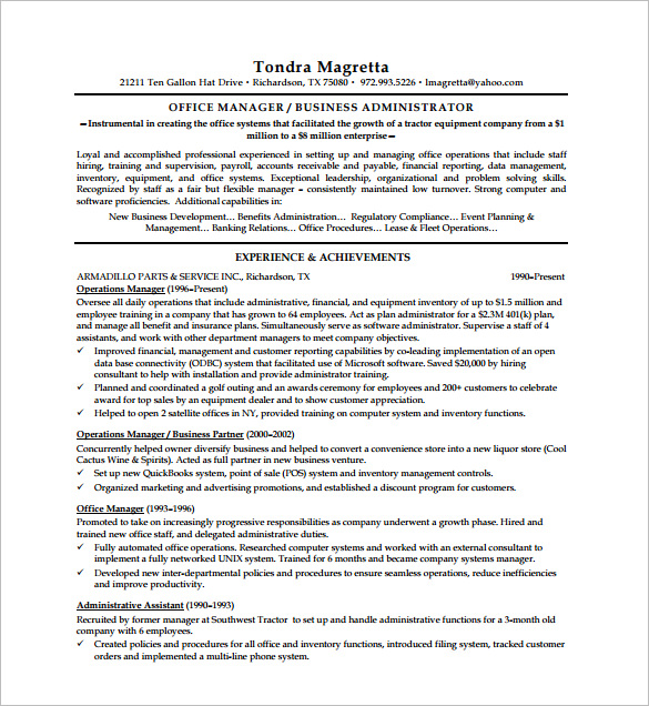 Executive Resume Template and What You Should Include